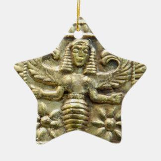 ANTIQUE GREEK HONEY BEE GODDESS STAR CHRISTMAS ORNAMENT