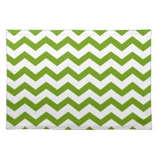 Antique Green Chevrons Placemat