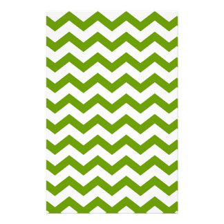 Antique Green Chevrons Stationery