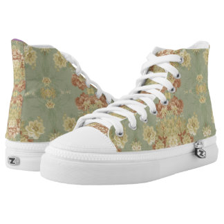 Antique Green Print Printed Shoes