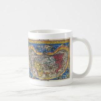 Antique Heart Shaped World Map by Peter Apian 1520 Coffee Mug