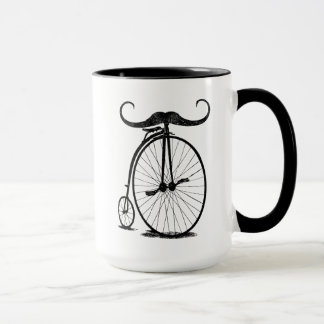 Antique High Wheel Bike Handlebar Mustache Mug