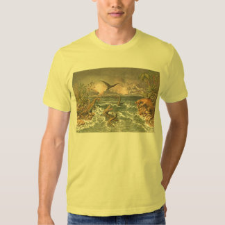 Antique image of prehistoric animals tee shirt