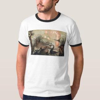 Antique image of prehistoric animals tee shirt