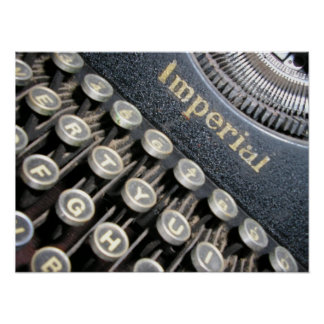 Antique Imperial Typewriter Poster