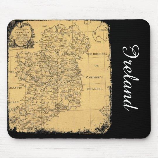 Antique Ireland Map Mousepad