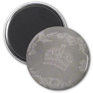 Antique Irish Damask with Royal Crown Magnet