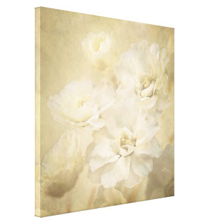 Antique Ivory Blossoms Canvas Art Print