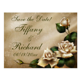 Antique Ivory Rose Postcard