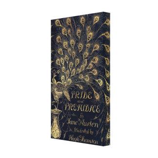 Antique Jane Austen Pride and Prejudice Peacock Canvas Print
