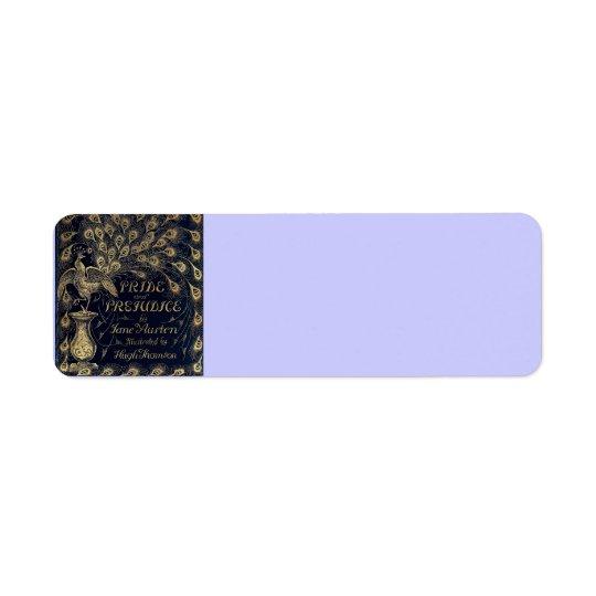 Antique Jane Austen Pride and Prejudice Peacock Return Address Label