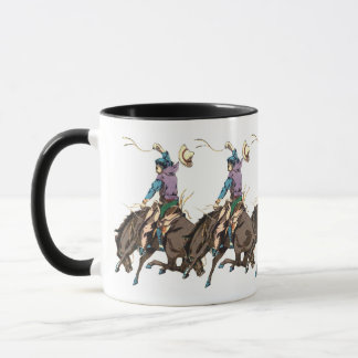 Antique Japanese Buckaroo 5 Mug