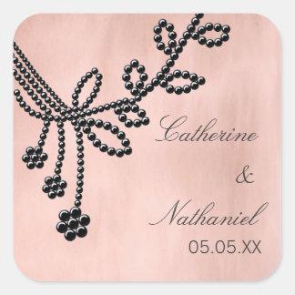 Antique Jewels Wedding Stickers, Jet Black