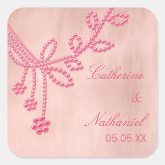 Antique Jewels Wedding Stickers, Light Pink