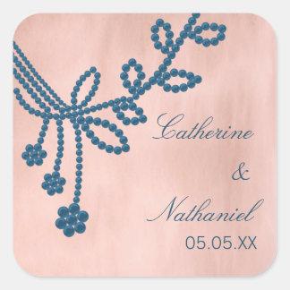 Antique Jewels Wedding Stickers, Royal Blue