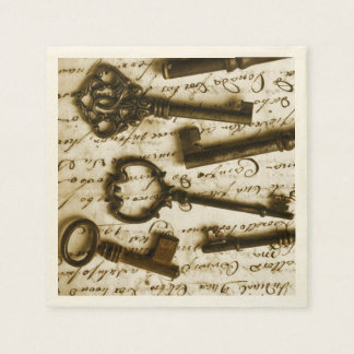 Antique Keys Paper Napkins