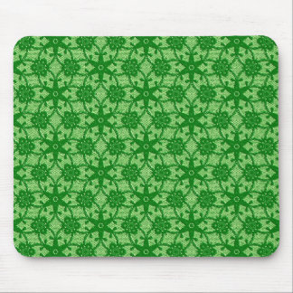 Antique lace - emerald and lime green mousepads