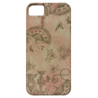 Antique Lace Fans & Roses Barely There iPhone 5 Case
