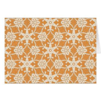 Antique lace - orange and cream cards