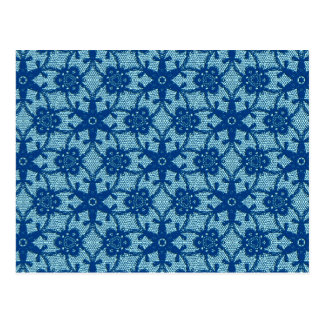 Antique lace - sapphire and pale blue post cards