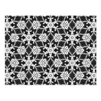 Antique lace - white and black postcard