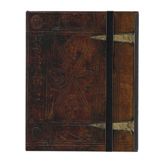 Antique Leather Bound Engraved Book Cover
