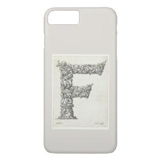 Antique Letter F Monogram Initial iPhone 8 Plus/7 Plus Case