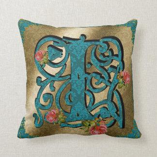 Antique Letter I - Pillow
