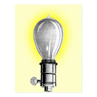 Antique Lightbulb Postcard