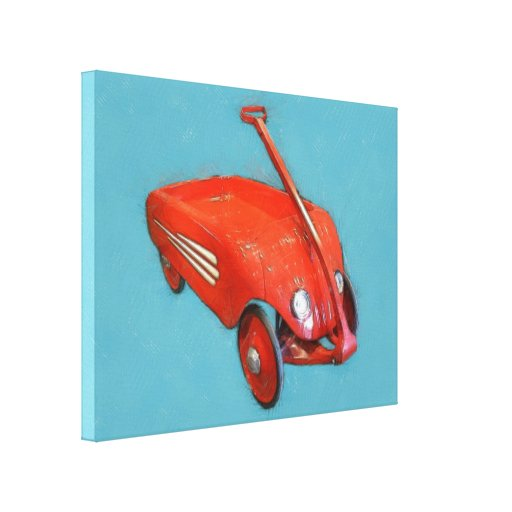 Antique Little Red Wagon Stretched Canvas Prints