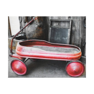 Antique Little Red Wagon Stretched Canvas Print