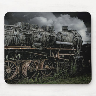 Antique Locomotive Steam Engine Train Mousepad