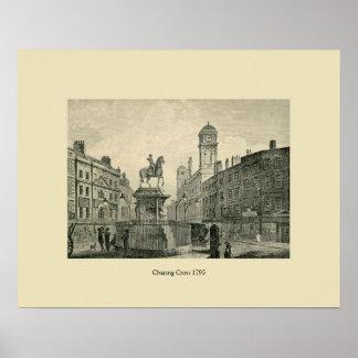 Antique London 1795 Charing Cross Print
