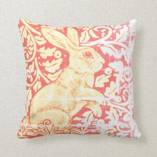 Antique Look Rabbit Pillow Rust Orange Gold Fall
