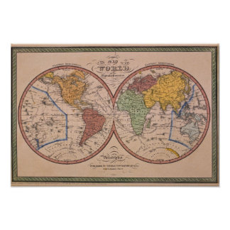 Antique Map 2 Poster