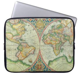 Antique Map laptop case