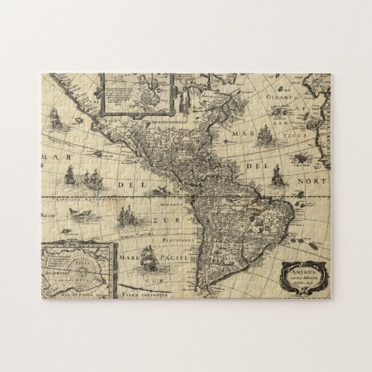Antique Map of America Jigsaw Puzzle