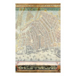 Antique Map of Amsterdam, Netherlands, Holland Customized Stationery