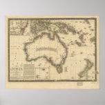 Antique Map of Australia 1826 Posters