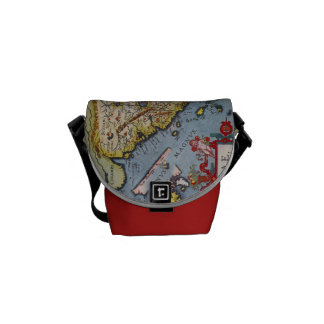 Antique Map of China Messenger Messenger Bags