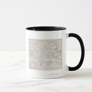 Antique Map of Croatia Mug