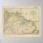 Antique Map of Curacao, Bonaire, Aruba, Suriname Poster