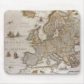 Antique Map of Europe, c1617 by Willem Jansz Blaeu Mousepads
