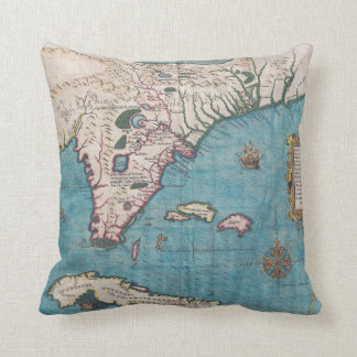 Antique Map of Florida and Cuba Cushion