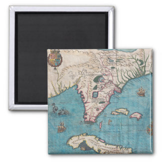 Antique Map of Florida and Cuba Magnet