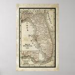 Antique Map of Florida Print