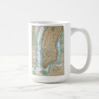 Antique Map of Lower Manhattan and Central Park Coffee Mug