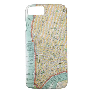 Antique Map of Lower Manhattan and Central Park iPhone 8/7 Case