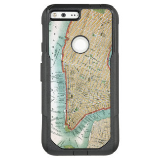 Antique Map of Lower Manhattan and Central Park OtterBox Commuter Google Pixel XL Case