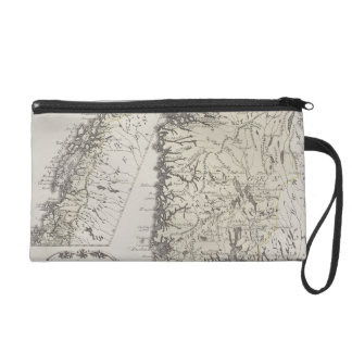 Antique Map of Norway Wristlets